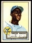 1952 Topps REPRINT #195  Minnie Minoso  Front Thumbnail