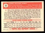 1952 Topps REPRINT #161  Bud Byerly  Back Thumbnail