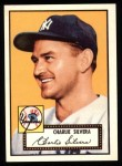 1952 Topps REPRINT #168  Charlie Silvera  Front Thumbnail
