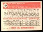 1952 Topps REPRINT #137  Roy McMillan  Back Thumbnail