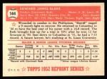 1952 Topps REPRINT #144  Ed Blake  Back Thumbnail