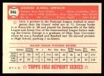 1952 Topps REPRINT #346  George Spencer  Back Thumbnail