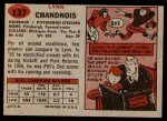 1957 Topps #137  Lynn Chandnois  Back Thumbnail