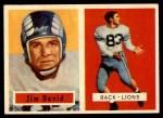 1957 Topps #150  Jim David  Front Thumbnail