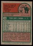 1975 Topps #16  Frank Tanana  Back Thumbnail