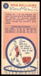 1969 Topps #36  Ron Williams  Back Thumbnail