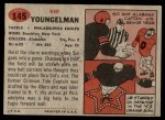 1957 Topps #145  Sid Youngelman  Back Thumbnail