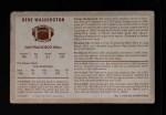 1970 Kelloggs #7  Gene Washington Vik  Back Thumbnail
