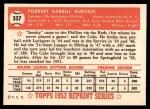 1952 Topps REPRINT #357  Smoky Burgess  Back Thumbnail