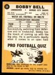 1967 Topps #69  Bobby Bell  Back Thumbnail