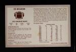 1970 Kelloggs #57  Ed Meador  Back Thumbnail