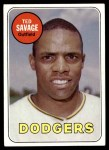 1969 Topps #471 WN Ted Savage  Front Thumbnail