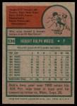1975 Topps #536  Bob Moose  Back Thumbnail