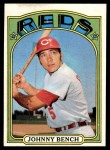 1972 Topps #433  Johnny Bench  Front Thumbnail