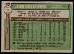 1976 Topps #11  Jim Hughes  Back Thumbnail
