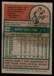 1975 Topps #239  George Stone  Back Thumbnail