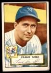 1952 Topps #248  Frank Shea  Front Thumbnail