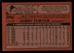 1982 Topps Traded #121 T Jerry Turner  Back Thumbnail