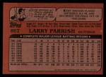 1982 Topps Traded #86 T Larry Parrish  Back Thumbnail