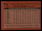 1982 Topps Traded #112 T Elias Sosa  Back Thumbnail