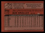 1982 Topps Traded #107 T Roy Smalley  Back Thumbnail
