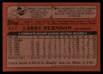 1982 Topps Traded #43 T Larry Herndon  Back Thumbnail