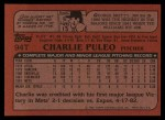 1982 Topps Traded #94 T Charlie Puleo  Back Thumbnail