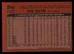1982 Topps Traded #102 T Joe Rudi  Back Thumbnail