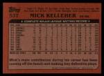 1982 Topps Traded #53 T Mick Kelleher  Back Thumbnail
