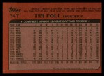 1982 Topps Traded #34 T Tim Foli  Back Thumbnail