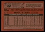 1982 Topps Traded #33 T Doug Flynn  Back Thumbnail