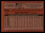 1982 Topps Traded #73 T Sid Monge  Back Thumbnail