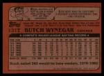 1982 Topps Traded #131 T Butch Wynegar  Back Thumbnail