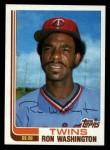 1982 Topps Traded #124 T Ron Washington  Front Thumbnail