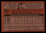 1982 Topps Traded #116 T Rick Sutcliffe  Back Thumbnail