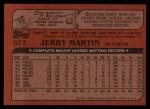 1982 Topps Traded #65 T Jerry Martin  Back Thumbnail
