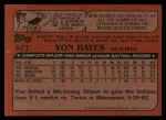 1982 Topps Traded #42 T Von Hayes  Back Thumbnail