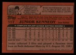 1982 Topps Traded #55 T Junior Kennedy  Back Thumbnail