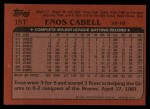 1982 Topps Traded #15 T Enos Cabell  Back Thumbnail