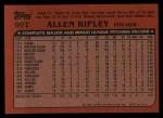 1982 Topps Traded #99 T Allen Ripley  Back Thumbnail