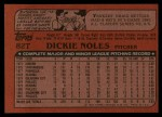 1982 Topps Traded #82 T Dickie Noles  Back Thumbnail