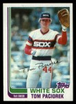 1982 Topps Traded #85 T Tom Paciorek  Front Thumbnail
