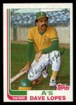 1982 Topps Traded #64 T Dave Lopes  Front Thumbnail