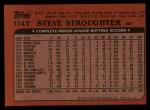 1982 Topps Traded #114 T Steve Stroughter  Back Thumbnail