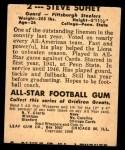 1948 Leaf #2  Steve Suhey  Back Thumbnail