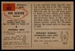 1954 Bowman #82  Ken Jackson  Back Thumbnail