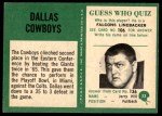 1966 Philadelphia #53   Cowboys Team Back Thumbnail