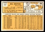 1963 Topps #437  Billy Bruton  Back Thumbnail
