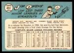 1965 Topps #451  Jim Owens  Back Thumbnail