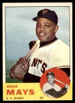 1963 Topps #300  Willie Mays  Front Thumbnail